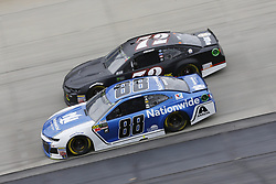 May 6, 2018 - Dover, Delaware, United States of America - Alex Bowman (88) and Corey LaJoie (72) battle for position during the AAA 400 Drive for Autism at Dover International Speedway in Dover, Delaware. (Credit Image: © Chris Owens Asp Inc/ASP via ZUMA Wire)