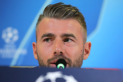 October 1, 2018 - Turin, Piedmont, Italy - Andrea Barzagli (Juventus FC) during the Juventus FC press conference on the eve of the UEFA Champions League match between Juventus FC and Berner Sport Club Young Boys at Allianz Stadium on October 01, 2018 in Turin, Italy. (Credit Image: © Massimiliano Ferraro/NurPhoto/ZUMA Press)