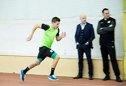 Miha Zajc during first training of NK Olimpija Ljubljana before spring season when presented Olimpija's new coach, on January 11, 2016 in ZAK stadium, Ljubljana, Slovenia. Photo by Vid Ponikvar / Sportida