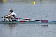 Hazenwinkel, BELGIUM,  Women's Lightweight single scull. LW1X  Mathilda PAULS, in the last strokes of the morning time trial, at the GB Rowing Senior Trials, on Sun,15.04.2007  [Credit, Peter Spurrier/Intersport-images]   [Mandatory Credit, Peter Spurier/ Intersport Images]. , Rowing Course, Bloso, Hazewinkel. BELGUIM