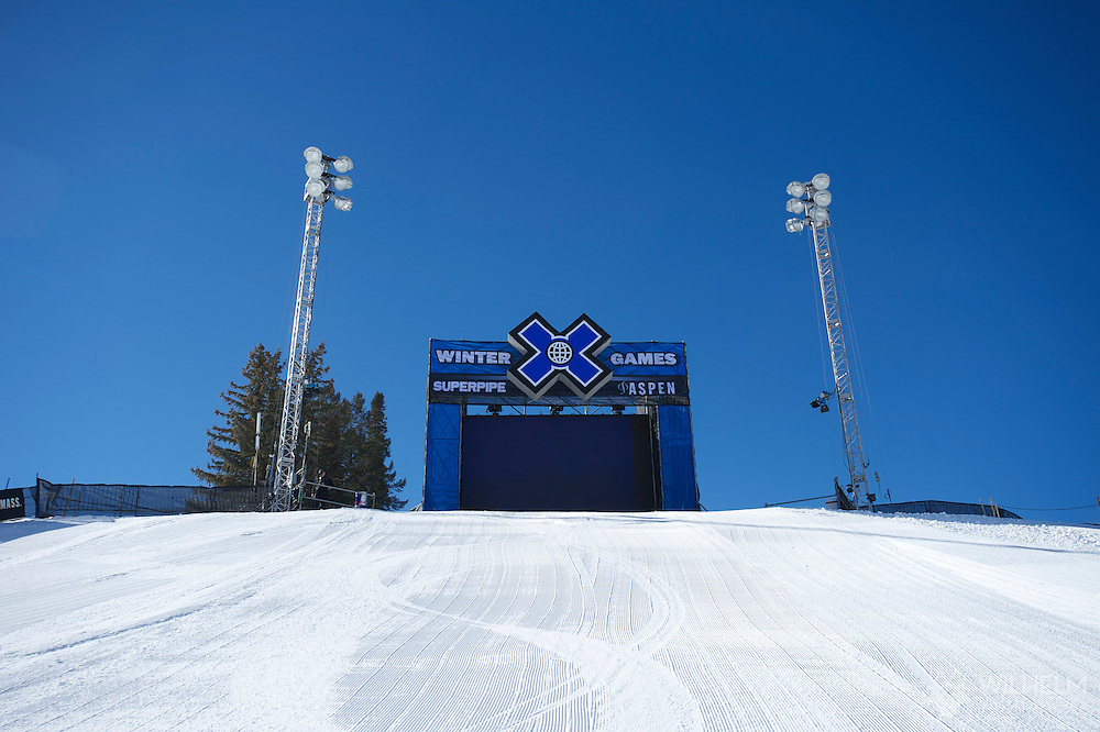 Feature during SuperPipe Practice at the 2013 X Games Aspen at Buttermilk Mountain in Aspen, CO.  Brett Wilhelm/ESPN