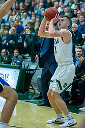 BLOOMINGTON, IL - January 04: Peter Lambesis during a college basketball game between the IWU Titans  and the Millikin Big Blue on January 04 2020 at Shirk Center in Bloomington, IL. (Photo by Alan Look)