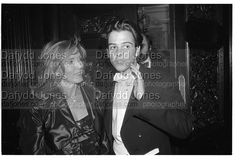 KATHY CEATON; MATTHEW VAUGHN, Matthew Vaughan 18th birthday. Novello Room, Wardour St, London. 17 March 1989,<br /> <br /> SUPPLIED FOR ONE-TIME USE ONLY> DO NOT ARCHIVE. © Copyright Photograph by Dafydd Jones 248 Clapham Rd.  London SW90PZ Tel 020 7820 0771 www.dafjones.com