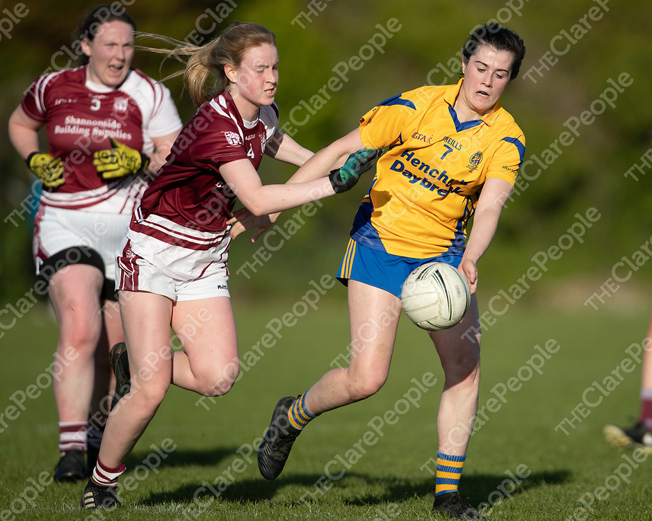 Banner's Orlaith Lynch is pushed by Doora Barefield's Siofra Ni Chomaill