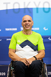 TOKYO, JAPAN --AUGUST 26: Franc Pinter Anco of Team Slovenia posing during photo session at Paralympic village on day 2 of the Tokyo 2020 Paralympic Games on August 26, 2021 in Tokyo, Japan. Photo by Vid Ponikvar / Sportida
