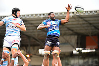 Fulgence OUEDRAOGO  - 11.04.2015 - Racing Metro / Montpellier  - 22eme journee de Top 14 <br />Photo : Dave Winter / Icon Sport