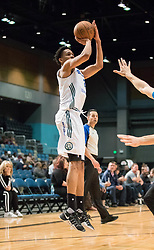 March 20, 2017 - Reno, Nevada, U.S - Reno Bighorn Guard LUIS MONTERO (2) shoots from the side during the NBA D-League Basketball game between the Reno Bighorns and the Texas Legends at the Reno Events Center in Reno, Nevada. (Credit Image: © Jeff Mulvihill via ZUMA Wire)
