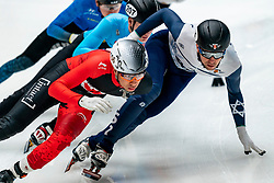 Vladislav Bykanov ISR in action on the 1000 meter during ISU World Cup Finals Shorttrack 2020 on February 14, 2020 in Optisport Sportboulevard Dordrecht.