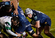 Sale Sharks hooker Curtis Langdon during a Gallagher Premiership Round 12 Rugby Union match, Friday, Mar 05, 2021, in Eccles, United Kingdom. (Steve Flynn/Image of Sport)