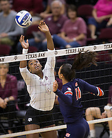 Auburn vs. Texas A&M NCAA college Volleyball game Sunday, Sept. 25, 2016, in College Station, Texas.