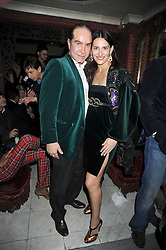 OLIVIER MURAO and CARMEN HAID at a party to celebrate the launch of Atelier-Mayer.com held at 83 Princedale Road, London W11 on 15th January 2009.