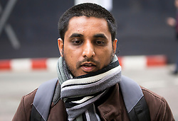 © Licensed to London News Pictures. 24/03/2016. London, UK. MOHAMMED RAHMEN arrives at The Old Bailey. Rahmen and Choudary are alleged to have invited support for the Islamic State group in individual lectures which were subsequently posted online. Photo credit: Peter Macdiarmid/LNP