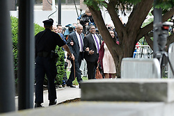 Actor Bill Cosby departs after accuser Andrea Constand gave testimony on the second day of Cosby's sexual assault trial at Montgomery County Courthouse,  in Norristown, Pennsylvania, on June 6, 2017.