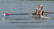 Plovdiv BULGARIA. 2017 FISA. Rowing World U23 Championships. <br /> USA BLM2-, Bow. WALKER, Thomas and SENDELBACH, Luke,<br /> Wednesday. PM,  Heats 16:35:10  Wednesday  19.07.17   <br /> <br /> [Mandatory Credit. Peter SPURRIER/Intersport Images].