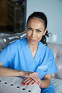December 29, 2016. Los Angeles, California. Founder and CEO of Drip Doctors, Jamila Sozahdah, who is at the centre of Samir Nasri's bizarre Twitter scandal.<br /> Photo Copyright John Chapple / www.JohnChapple.com /