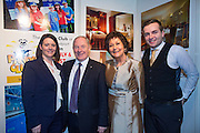 NO FEE PICTURES<br /> 23/1/16 Minister for Tourism Michael Ring and Maureen Ledwith, organiser of the Holiday World Show at the Hotel Westport stand at the Holiday World Show at the RDS in Dublin. Picture: Arthur Carron
