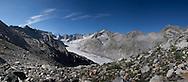 Panoramica del ghiacciaio del Passo del Forno