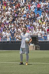 July 20, 2017 - Madrid, Spain - Spanish midfielder Dani Ceballos during his presentation as new football player of the Real Madrid CF at the Santiago Bernabeu stadium in Madrid on July 20, 2017. (Credit Image: © Oscar Gonzalez/NurPhoto via ZUMA Press)