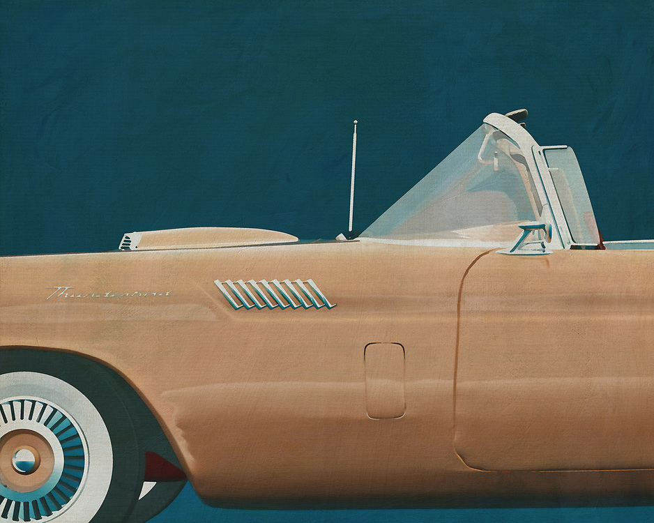 If you want to give your interior an extra stylish detail, this painting of a Ford Thunderbird is perfect. –<br /> <br /> <br /> BUY THIS PRINT AT<br /> <br /> FINE ART AMERICA<br /> ENGLISH<br /> https://janke.pixels.com/featured/ford-thunderbird-side-jan-keteleer.html<br /> <br /> WADM / OH MY PRINTS<br /> DUTCH / FRENCH / GERMAN<br /> https://www.werkaandemuur.nl/nl/shopwerk/Ford-Thunderbird/528857/132