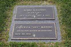 31 August 2017:   Veterans graves in Park Hill Cemetery in eastern McLean County.<br /> <br /> Bobbie N Mathes  US Air Force  Oct 4 1931  Dec 8 2013