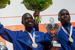 07-04-2019 NED: 39e NN Rotterdam Marathon, Rotterdam<br /> The winner kenyan Marius Kipserem during the NN marathon of Rotterdam. (r) Kaan Özbilen silver