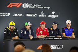 October 25, 2018 - Mexico-City, Mexico - Motorsports: FIA Formula One World Championship 2018, Grand Prix of Mexico, ..#55 Carlos Sainz jr. (ESP, Renault Sport Formula One Team), #11 Sergio Perez (MEX, Racing Point Force India F1 Team), #7 Kimi Raikkonen (FIN, Scuderia Ferrari), #33 Max Verstappen (NLD, Aston Martin Red Bull Racing), #10 Pierre Gasly (FRA, Red Bull Toro Rosso Honda) (Credit Image: © Hoch Zwei via ZUMA Wire)