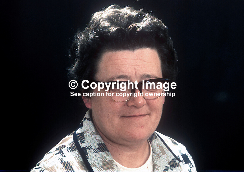Sheelagh Murnaghan, candidate, South Belfast, LIberal Party, N Ireland Assembly Election, June, 1973, 197305300324<br /> <br /> Copyright Image from Victor Patterson, Belfast, UK<br /> <br /> t: +44 28 9066 1296 (from Rep of Ireland 048 9066 1296)<br /> m: +44 7802 353836<br /> e: victorpattersonbelfast@gmail.com<br /> <br /> www.images4media.com<br /> <br /> Please see my full Terms and Conditions of Use at https://www.images4media.com/p/terms-conditions - it is IMPORTANT that you familiarise yourself with them.<br /> <br /> Images used online incur an additional cost. This cost should be agreed in writing in advance. Online images must be visibly watermarked i.e. © Victor Patterson or that of the named photographer within the body of the image. The original metadata must not be deleted from images used online.<br /> <br /> This image is only available for the use of the download recipient i.e. television station, newspaper, magazine, book publisher, etc, and must not be passed on to a third party. It is also downloaded on condition that each and every usage is notified within 7 days to victorpattersonbelfast@gmail.com.<br /> <br /> The right of Victor Patterson (or the named photographer) to be identified as the author is asserted in accordance with The Copyright Designs And Patents Act (1988). All moral rights are asserted.