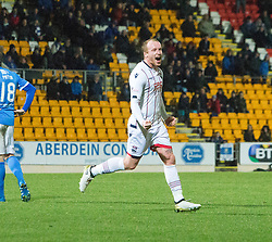 Ross County's Liam Boyce cele scoring their fourth goal. St Johnstone 2 v 4 Ross County. SPFL Ladbrokes Premiership game played 19/11/2016 at St Johnstone's home ground, McDiarmid Park.