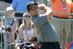 March 23, 2019 - Palm Harbor, FL, U.S. - PALM HARBOR, FL - MARCH 23: Paul Casey tees off on the first hole during the third round of the Valspar Championship on March 23, 2019, at Westin Innisbrook-Copperhead Course in Palm Harbor, FL. (Photo by Cliff Welch/Icon Sportswire) (Credit Image: © Cliff Welch/Icon SMI via ZUMA Press)