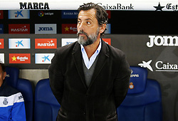 November 27, 2017 - Barcelona, Spain - Quique Sanchez Flores during La Liga match between RCD Espanyol v Real Betis Balompie,in Barcelona, on November 27, 2017. Photo: Joan Valls/Urbanandsport/Nurphoto  (Credit Image: © Joan Valls/NurPhoto via ZUMA Press)