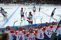 KELOWNA, CANADA - NOVEMBER 9: Team Russia on November 9, 2015 during game 1 of the Canada Russia Super Series at Prospera Place in Kelowna, British Columbia, Canada.  (Photo by Marissa Baecker/Western Hockey League)  *** Local Caption ***