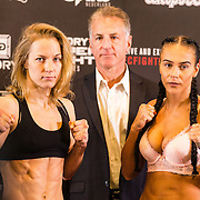 NLD/Amsterdam20160624 - Glory 31 / Weigh in, Irina Mazepa vs Isis Verbeek