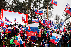 Supporters of VLHOVA Petra of Slovakia during the 6th Ladies'  GiantSlalom at 55th Golden Fox - Maribor of Audi FIS Ski World Cup 2018/19, on February 1, 2019 in Pohorje, Maribor, Slovenia. Photo by Vid Ponikvar / Sportida