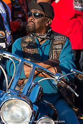 Jimmy Long at the Biking on the Boulevard event during Daytona Bike Week. FL, USA. March 14, 2014.  Photography ©2014 Michael Lichter.