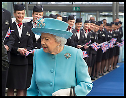 May 23, 2019 - London, London, United Kingdom - Image licensed to i-Images Picture Agency. 23/05/2019. London, United Kingdom. The Queen arriving for  a visit to the headquarters of British Airways, Heathrow, United Kingdom, to mark their centenary year. (Credit Image: © Stephen Lock/i-Images via ZUMA Press)