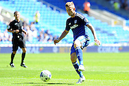 Cardiff city's Joe Ralls in action. Skybet football league championship match, Cardiff city v Fulham at the Cardiff city stadium in Cardiff, South Wales on Saturday 8th August  2015.<br /> pic by Carl Robertson, Andrew Orchard sports photography.