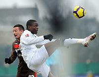 v.l. Deniz Naki , Seyi Olajenbesi Alemannia<br /> 2. Bundesliga FC St. Pauli - Alemannia Aachen 1:0<br /> <br /> Norway only
