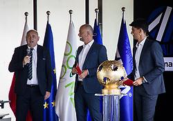 during the draw for 1st. round of Slovenian National Leage 1 and 2 on 01.07.2021 on Brdo pri Kranju, Slovenia. Photo by Urban Meglič / Sportida