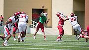 Apr 20, 2013; Fayetteville, AR, USA; Arkansas Razorback white quarterback Brandon Allen (10) makes a pass during the red vs. white spring football game at Donald W. Reynolds Razorback Stadium. Mandatory Credit: Beth Hall-USA TODAY Sports