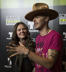 October 3, 2016 - Hollywood, California, U.S - Jesse y Joy at Telemundo's Latin American Music Awards Press Conference after their rehearsal at the Dolby Theatre on Monday October 3, 2016 in Hollywood, California. (Credit Image: © Prensa Internacional via ZUMA Wire)