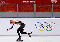 09-02-2014 SCHAATSEN: OLYMPIC GAMES: SOTSJI<br /> Annouk van der Weijden op haar 3000 meter<br /> ©2014-FotoHoogendoorn.nl<br />  / Sportida
