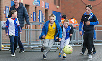 Kids play football outside Ewood Park<br /> <br /> Photographer Alex Dodd/CameraSport<br /> <br /> The EFL Sky Bet Championship - Blackburn Rovers v Reading - Saturday 17th December 2016 - Ewood Park - Blackburn<br /> <br /> World Copyright © 2016 CameraSport. All rights reserved. 43 Linden Ave. Countesthorpe. Leicester. England. LE8 5PG - Tel: +44 (0) 116 277 4147 - admin@camerasport.com - www.camerasport.com
