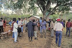 Locals Dancing At Festivities