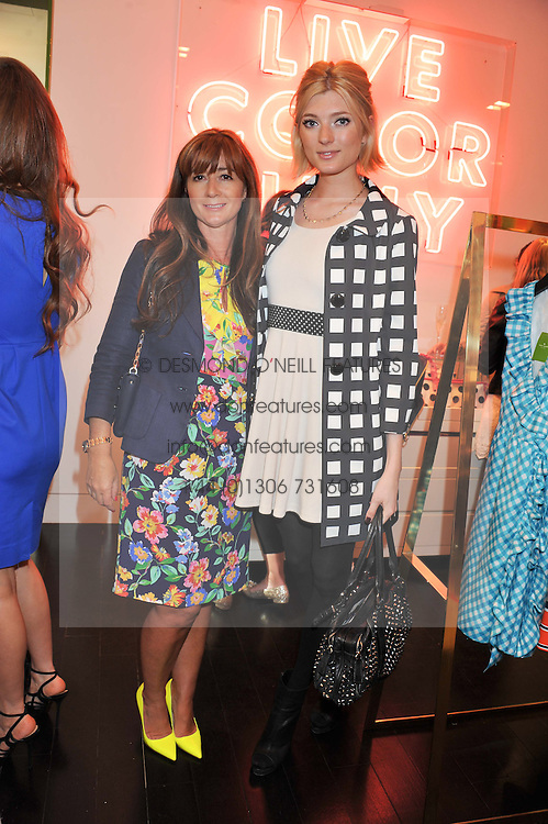 Left to right, DEBORAH LLOYD and SOPHIE SUMNER at the Kate Spade NY hosted Chelsea Flower Show Tea Party held at Kate Spade, 2 Symons Street, London on 23rd May 2013.