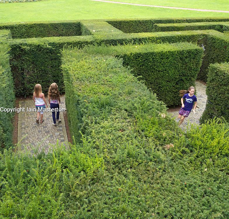 Maze at Garten der Welt or Gardens of the World park in Marzahn in Berlin Germany