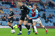 Barnsley forward Cauley Woodrow (9) during the The FA Cup 3rd round match between Burnley and Barnsley at Turf Moor, Burnley, England on 5 January 2019.