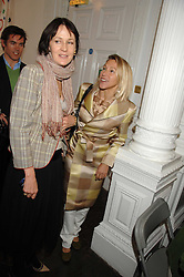 Left to right, LUCY BIRLEY and MAIA HIRST at a lunch in aid of African Solutions To African Problems held at Il Bottaccio, 9 Grosvenor Place, London on 20th May 2008.<br />