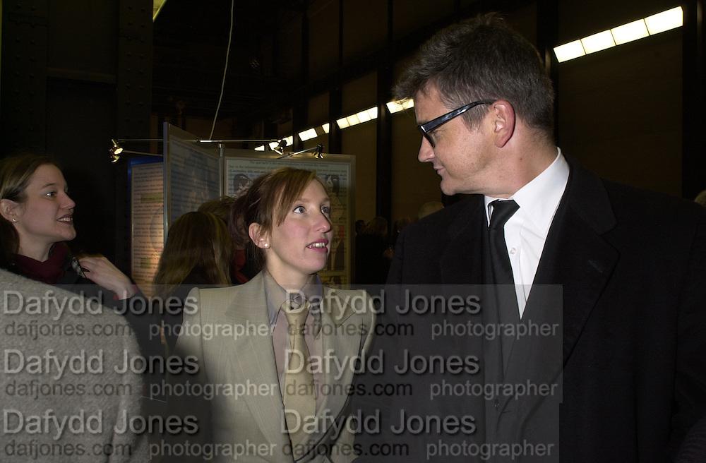 Jay Jopling and Sam Taylor-Wood. Century City Buffet dinner opening. Tate Bankside. 29 January 2001. © Copyright Photograph by Dafydd Jones 66 Stockwell Park Rd. London SW9 0DA Tel 020 7733 0108 www.dafjones.com