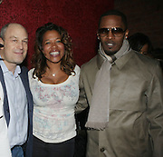 l to r: Barry Weiss, Danyel Smith and Jamie Foxx at The Jamie Foxx's Album Release Party for Intuition, Sponsored by Vibe Magazine & Patron Tequila held at Home on December 17, 2008 in New York City..