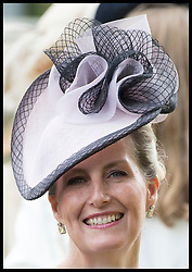 June 19, 2018 - Ascot, United Kingdom - Image licensed to i-Images Picture Agency. 19/06/2018. Ascot , United Kingdom. The Countess of Wessex  on the opening day of Royal Ascot, United Kingdom. (Credit Image: © Stephen Lock/i-Images via ZUMA Press)